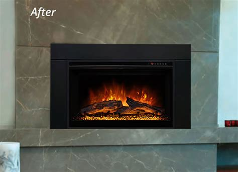 modern flames electric fireplace insert fines gas