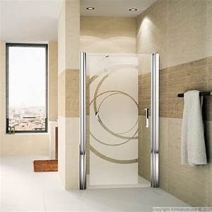shower door wall decal design curves wall decals art and With porte de douche coulissante avec mobilier salle de bain vintage