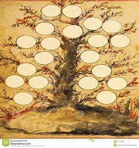 Family Tree With Grungy Background Stock Photo - Image ...