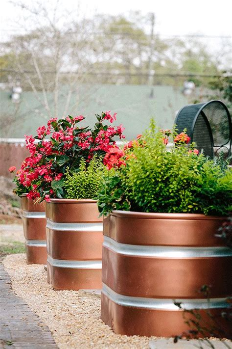 Copper Outdoor Planters by Best 25 Large Outdoor Planters Ideas On Large