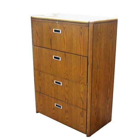 4 drawer wood file cabinet vintage four drawer wood file cabinet ebay