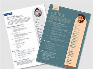 10 best free resume cv templates in ai indesign psd With free vector resume template