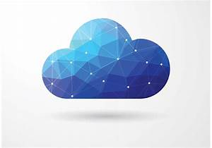 Free Vector Polygonal Cloud Computing Concept