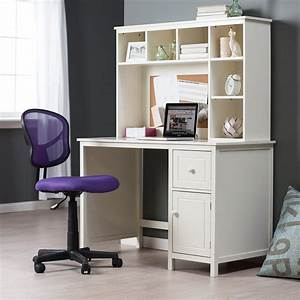Furniture. White And Pink Desk With Storage Drawers And ...