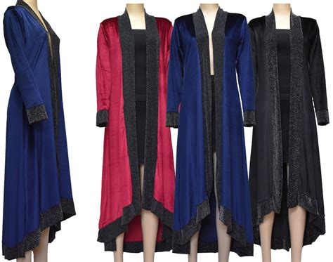 Women Velvet Long Kimono Open Front Cardigan Wrap Jacket Cape Coat Cover Up