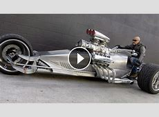 AWESOME Hemi V8 Powered 'Rocket II' 1200HP Trike Motorcycle
