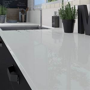 Protege Plan De Travail : plan de travail sur mesure verre laqu gris galet ~ Premium-room.com Idées de Décoration