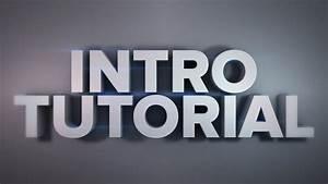 Intro  Animation Tutorial - Cinema 4d  Part1