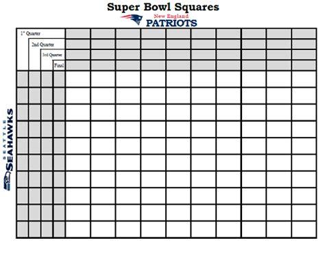 super bowl squares   win  super bowl xlix