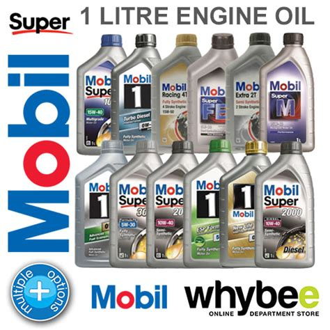 New! Mobil 1 Engine Oil 1 Litre All Types & Grades! For