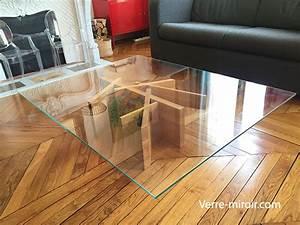 Film Protection Table En Verre : table basse en verre tremp ~ Dailycaller-alerts.com Idées de Décoration