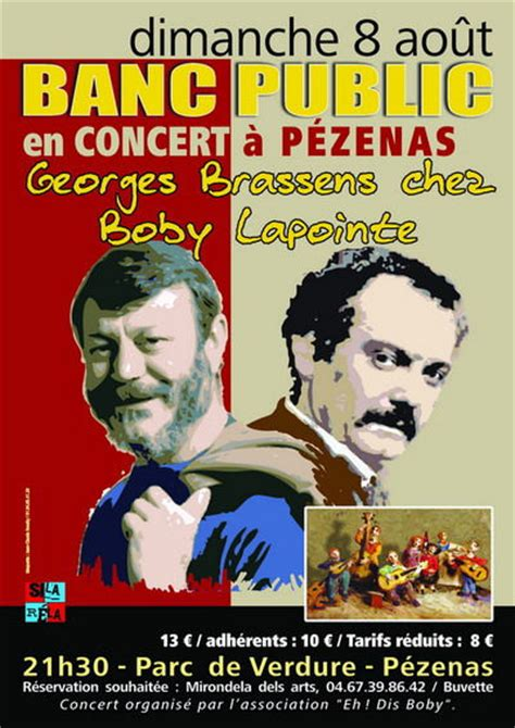 georges brassens et boby lapointe assis 224 la m 234 me table le bouche a oreille de citry quot agis