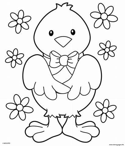 Pages Coloring Pretty Flowers Printable Chick Razukrashki