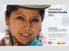 Calendario Cholita paceña 2013 se presenta este jueves