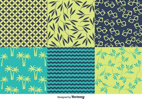 spring  summer beach pattern vectors