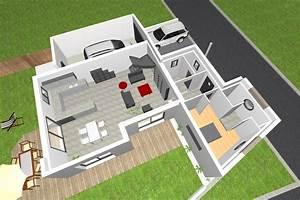 Plan Maison 6 Chambres : plan maison moderne 3 chambres 1 chambre ~ Voncanada.com Idées de Décoration