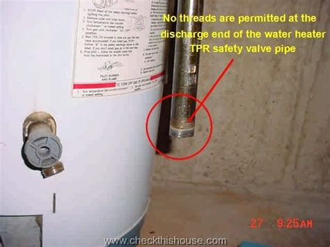 Water Heater Tpr Valve Requirement