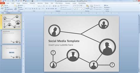 social media template  powerpoint