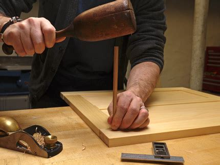 reinforce mortise  tenon joinery  square pegs