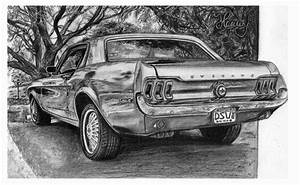 Ford-mustang-drawing by henrydsv on DeviantArt