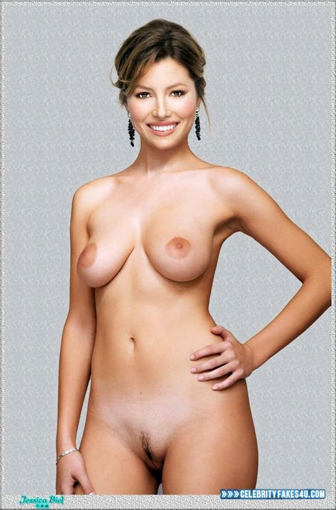Jessica Biel Camel Toe Nude Body Fake 002