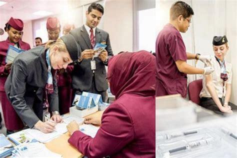 qatar airways organises flu vaccination campaign