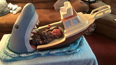 34111 shark crib bedding creates frightening baby bed inspired by jaws abc news
