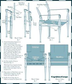 campaign chair plans  woodworking