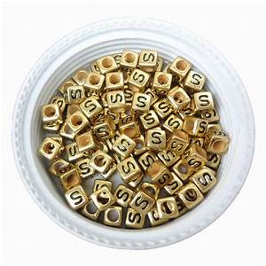wholesale single letter beads black s printing 66mm cube With bulk letter printing