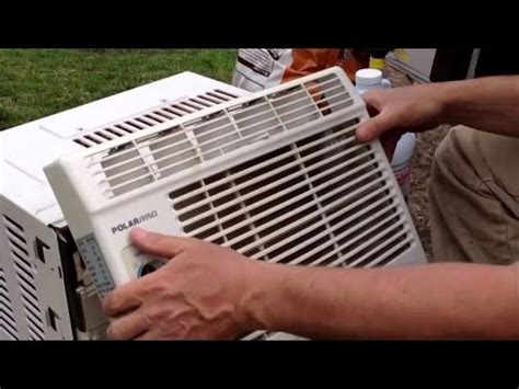 how to clean a window fan how to clean a window air conditioner youtube