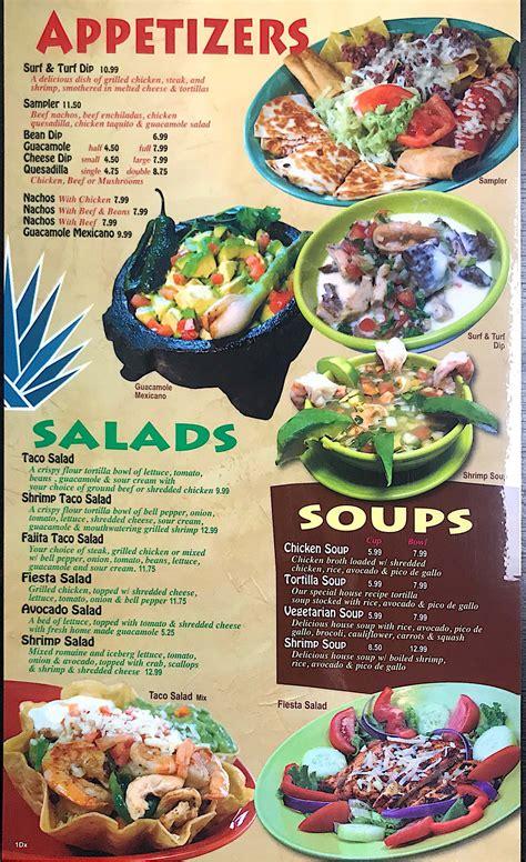 Mexican Lunch & Dinner Menu | Shreveport, LA | Casa Jimador
