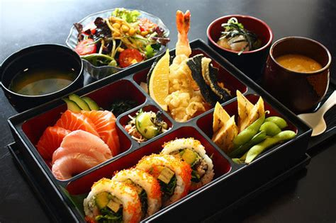 cuisine bento bento food japanese miso sashimi image 258099 on