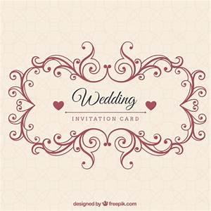 ornamental wedding invitation card vector premium download With wedding invitation design freepik