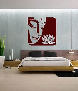Wall whispers buddha with lotus sticker