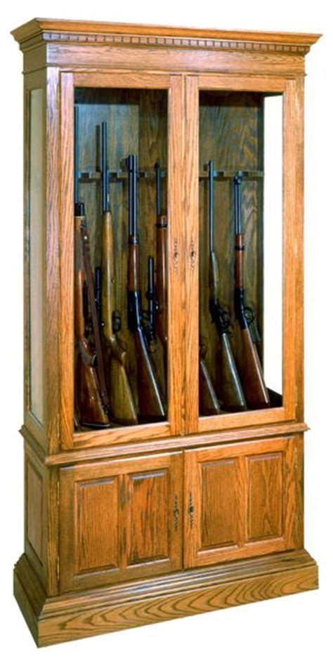 gun cabinet vintage woodworking plan