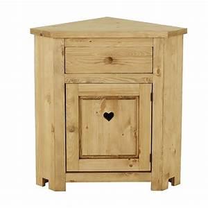 Meuble Bas Porte : meuble bas d 39 angle avec coeur 1 porte 1 tiroir grenier ~ Edinachiropracticcenter.com Idées de Décoration