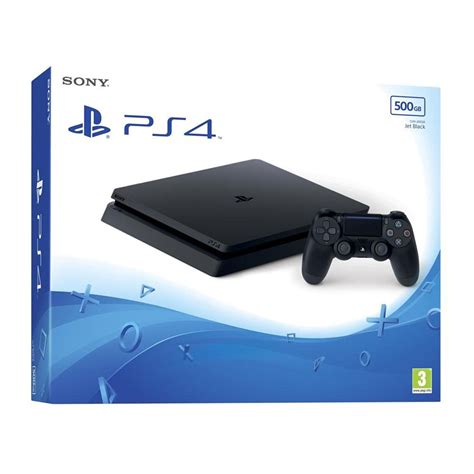 playstation 4 console sony playstation 4 slim 500 go jet black console ps4