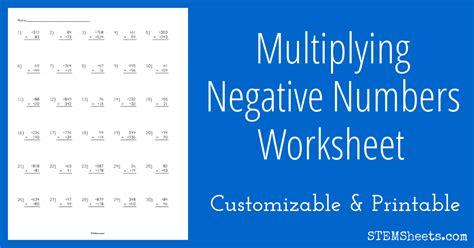 worksheet works maths negative numbers negative