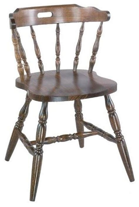colonial style solid beech wood chairs walnut