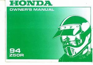 1994 Honda Z50r Motorcycle Owners Manual