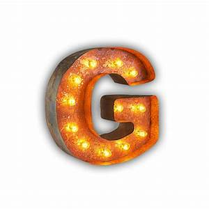 rusty 12 inch letter g marquee light by vintage marquee lights With marquee letter g