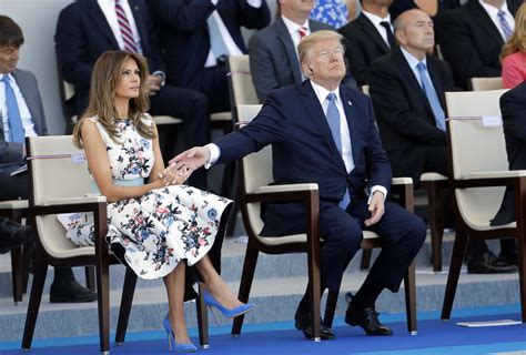 melania trump    bastille day military