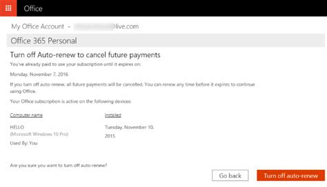Office 365 Renewal how to turn office 365 auto renewal or cancel subscription