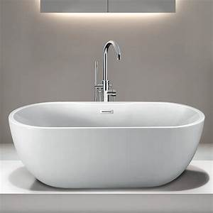 Randolph, Morris, 55, Inch, Acrylic, Double, Ended, Freestanding, Tub