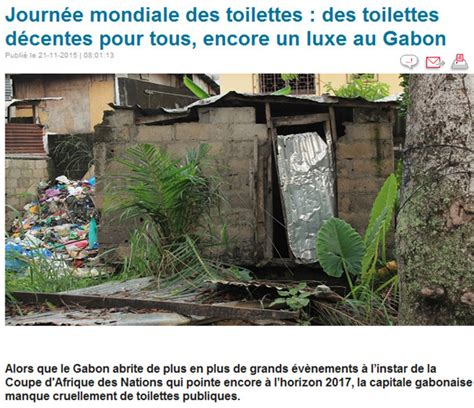 journee internationale des toilettes liste documents