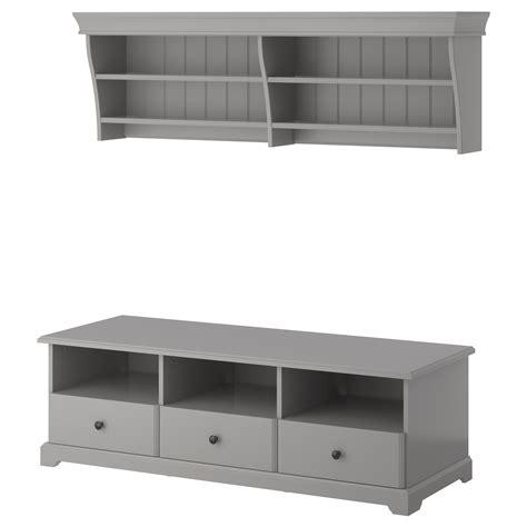 Ikea Badmöbel Grau by Tv M 246 Bel Liatorp In Wei 223 Und Grau Nur 298 00 Cherry