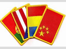 Country Flag Patches Rectangle