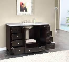 Menards Bathroom Vanities 48 by Silkroad 55 Inch Single Sink Bathroom Vanity Carrara White