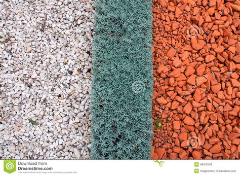 gravel colors types of landscaping and decorations garden paths stock photo image 48470193