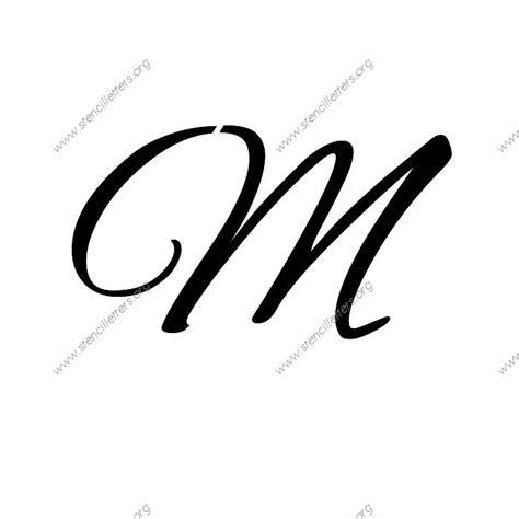 flowing cursive uppercase lowercase letter stencils